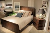 Contemporary Sleigh Bed