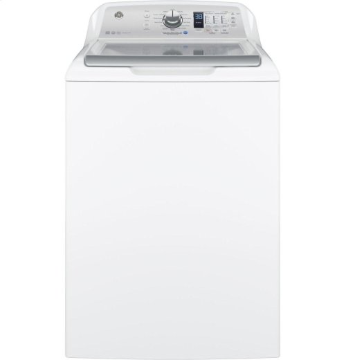 GE® 4.5 DOE cu. ft. stainless steel capacity washer