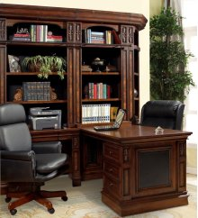 2pc Peninsula Desk