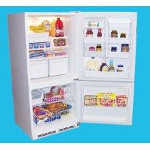17.6 Cu. Ft. Frost-free Bottom Mount Refrigerator/Freezer - White