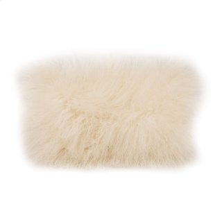 Lamb Fur Pillow Rect. Cream
