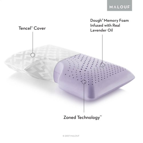 Shoulder Cutout Pillow + Lavender, King
