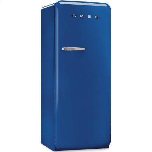 50'S Style Refrigerator with ice compartment, Blue, Right hand hinge