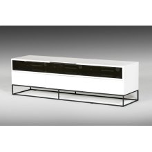 Modrest Colby Modern White & Black TV Stand