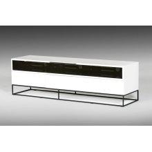 Modrest Colby Modern White & Black TV Stand