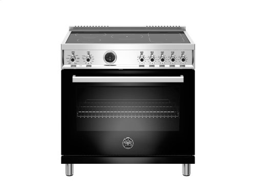36 inch 5-Induction Zones, Electric Self-Clean oven Black