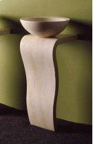 Wave Pedestal Papiro Cream Marble Product Image