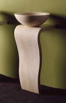 Wave Pedestal Papiro Cream Marble