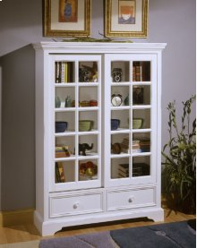 2-Panel Sliding Door Bookcase