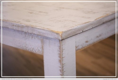 Wooden Table top & base - White finish - KD System
