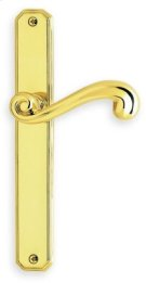 Traditional Narrow Plate Lever Latchset - Solid Brass in US26 (Polished Chrome Plated) Product Image