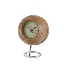 Clock 12x17 cm LEESTON wood+nickel