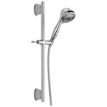 Chrome 7-Setting Slide Bar Hand Shower