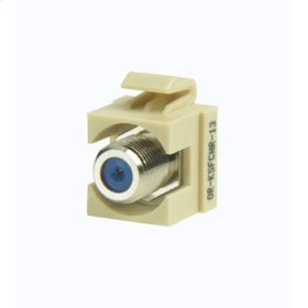 Keystone Recessed F-conn 75 Ohm Electrical Ivory