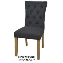 "19.5X24X39"" DINING CHAIR BLUE, 2 PCS KD PK/ 5.94'"