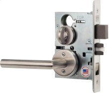 Modern Mortise Lever Lockset with Roses in Interior Trim (Modern Mortise Lever Lockset with Roses - Stainless Steel)