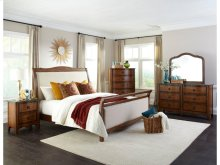 Luciano King Upholstered Bed Footboard