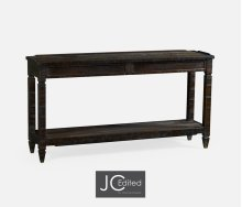 Dark Ale Console Table with Drawers