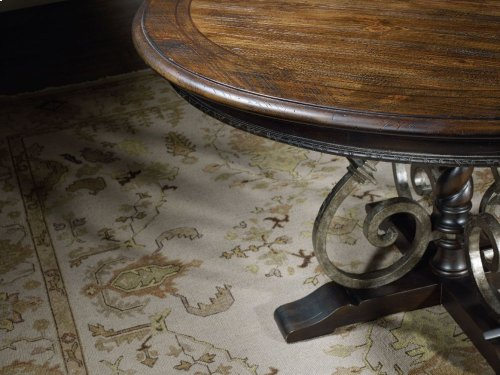 """Treviso Round Dining Table with One 18"""" Leaf"""