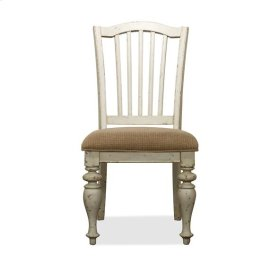 Mix-N-Match Upholstered Seat Side Chair Dover White finish