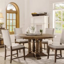 Hawthorne - Round Dining Table - Barnwood Finish