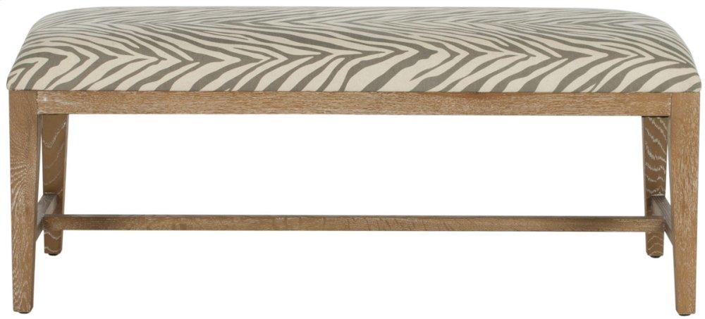 Zambia Bench - Grey Zebra