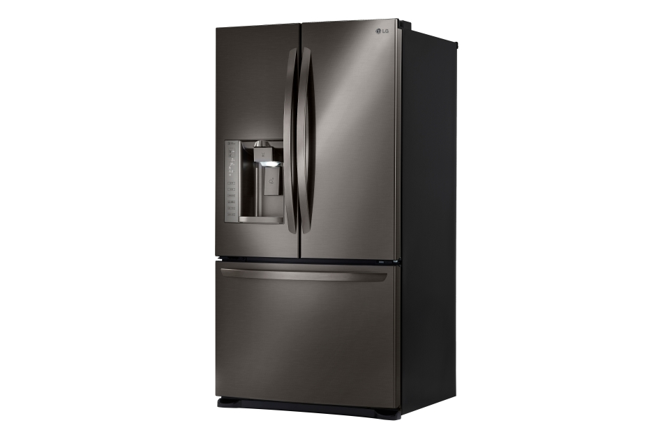 energy fingerprint ft pd french maker door steel refrigerator ice dual black star shop resisitant stainless with makers samsung cu