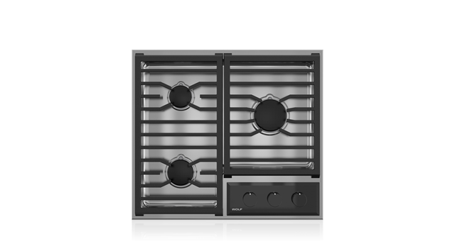 "Wolf24"" Transitional Framed Gas Cooktop"