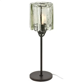 Blown Glass Clear Table Lamp