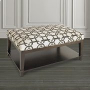 Custom Ottoman Rectangle Ottoman w/Shelf Product Image