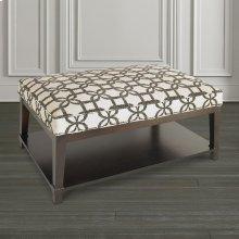 Custom Ottoman Rectangle Ottoman w/Shelf