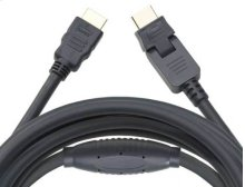 Black 30' HDMI Cable; Includes 1 pivoting end and 1 straight end