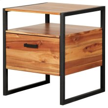 Zachary Night Stand/Side Table, Natural *NEW*