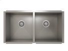 "Stainless steel kitchen sink, handcrafted With Urban style corners [0""] Product Image"