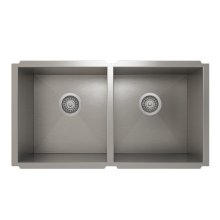 ProInox H0 50/50 Double Bowl undermount Kitchen Sink ProInox H0 18-gauge Stainless Steel, 30'' X 16'' X 10''