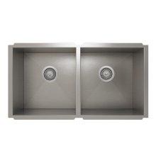 ProInox H0 50/50 Double Bowl undermount Kitchen Sink ProInox H0 18-gauge Stainless Steel, 30'' X 16'' X 10''