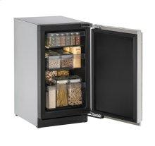 "18"" Solid Door Refrigerator Stainless Solid Left-Hand Hinge"