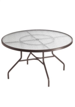 "Acrylic 48"" Round Dining Umbrella Table"