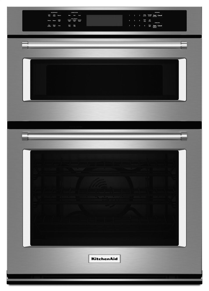 "Kitchenaid27"" Combination Wall Oven With Even-Heat™ True Convection (Lower Oven) - Stainless Steel"