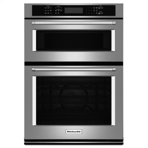 "Kitchenaid27"" Combination Wall Oven with Even-Heat True Convection (lower oven) - Stainless Steel"