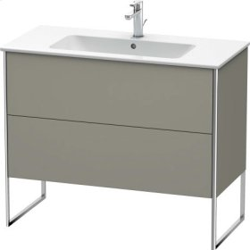 Vanity Unit Floorstanding, Stone Gray Satin Matt Lacquer