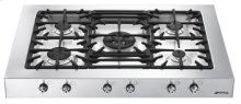 """90CM (approx. 35"""") Professional Style """"Classic"""" Gas Cooktop Stainless Steel"""