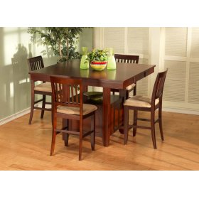 Counter High Table & 4 Stools