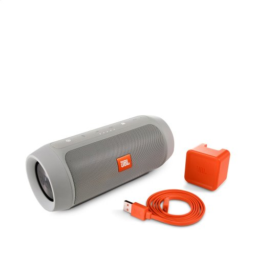 JBL Charge 2+ Full-featured splashproof portable speaker with high-capacity battery to charge your devices