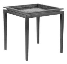 Platinum Crocodile Square End Table
