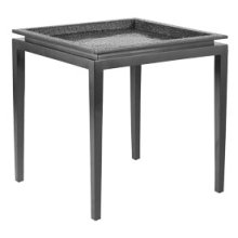 Platinum Crocodile Square End Table