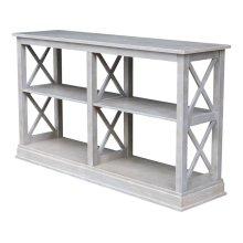 Hampton Long Sofa Table in Taupe Gray