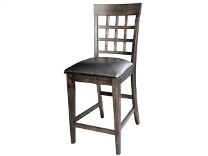 Grid Back Counter Stool