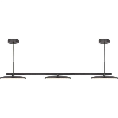Visual Comfort PB5200MBK Peter Bristol Dot LED 60 inch Matte Black Linear Pendant Ceiling Light, Large Triple