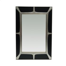 Matte Black and Silver Gilded Finished Mirror